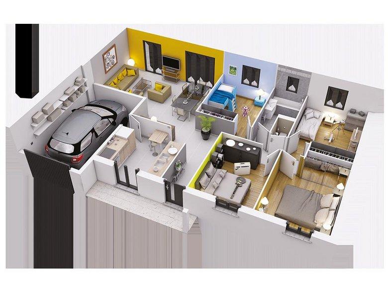 Vente maison neuve 90 m fonsorbes 193 900 fonsorbes 31470 for Vente maison neuve 06
