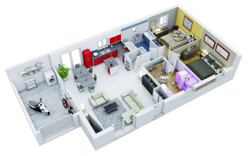 Vente maison neuve 90 m merville 216 900 merville 31330 for Vente maison neuve 06