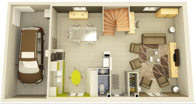 vente maison neuve 104 m plaisance du touch 249 500 plaisance du touch 31830. Black Bedroom Furniture Sets. Home Design Ideas