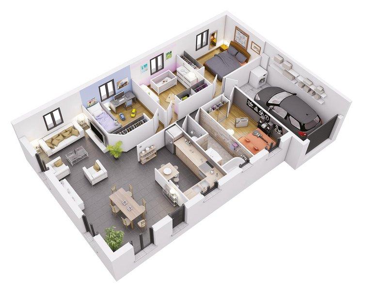 photo de Vente Maison neuve 88 m² à Roqueseriere 198 344 ¤