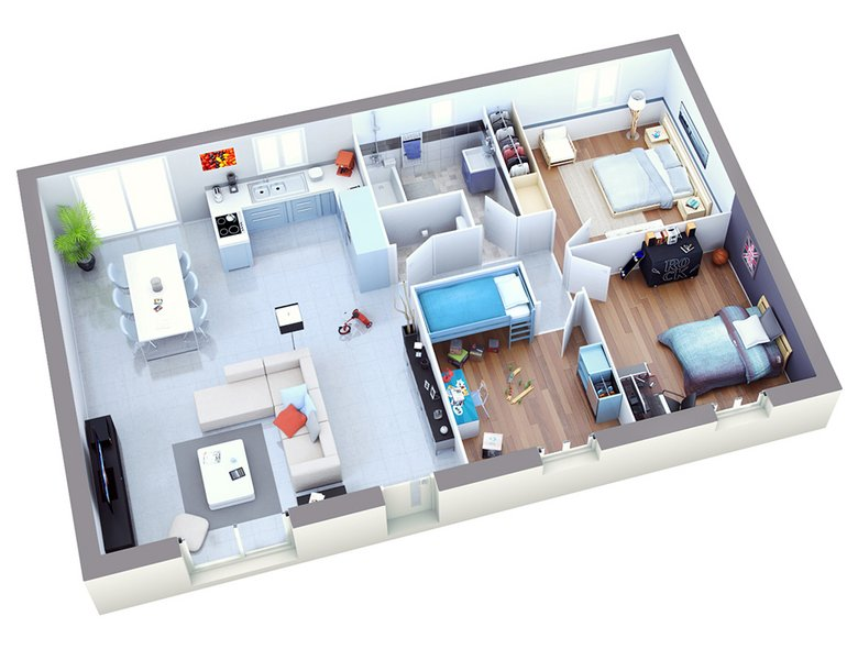 photo de Vente Maison neuve 90 m² à Camaret sur Aigues 200 620 ¤