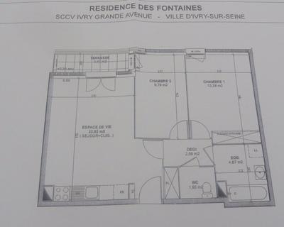 Vente Appartement 56 m² à Ivry sur Seine 294 000 €
