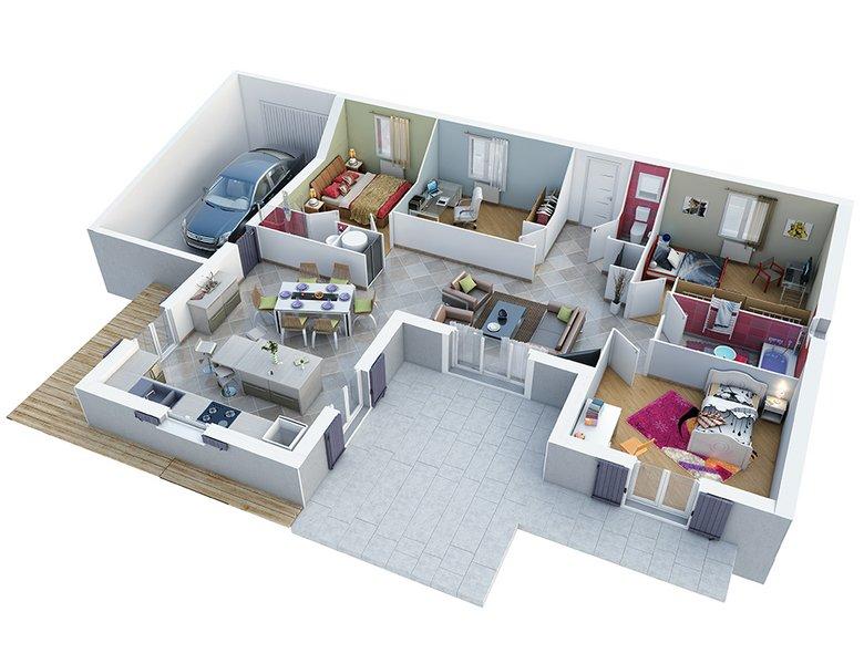 photo de Vente Maison neuve 99 m² à Caumont sur Durance 285 072 ¤
