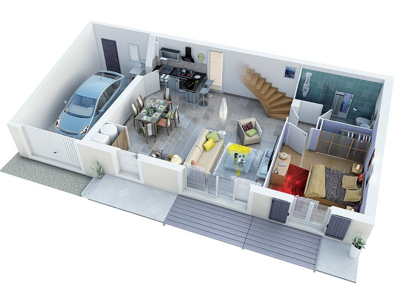photo de Vente Maison neuve 90 m² à Rochefort du Gard 229 385 ¤