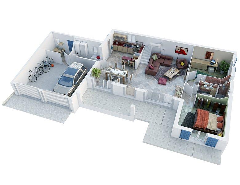photo de Vente Maison neuve 120 m² à Saint Paulet de Caisson 243 000 ¤