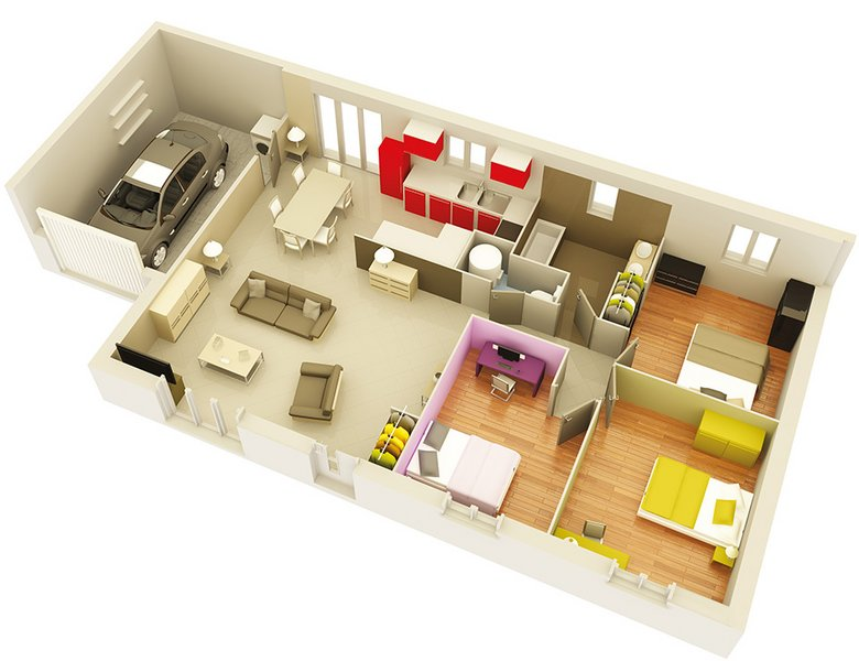 photo de Vente Maison neuve 90 m² à Saint Marcel d Ardeche 172 000 ¤