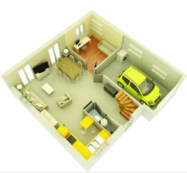 Vente maison neuve 89 m grisolles 156 035 grisolles 82170 for Vente maison neuve 04