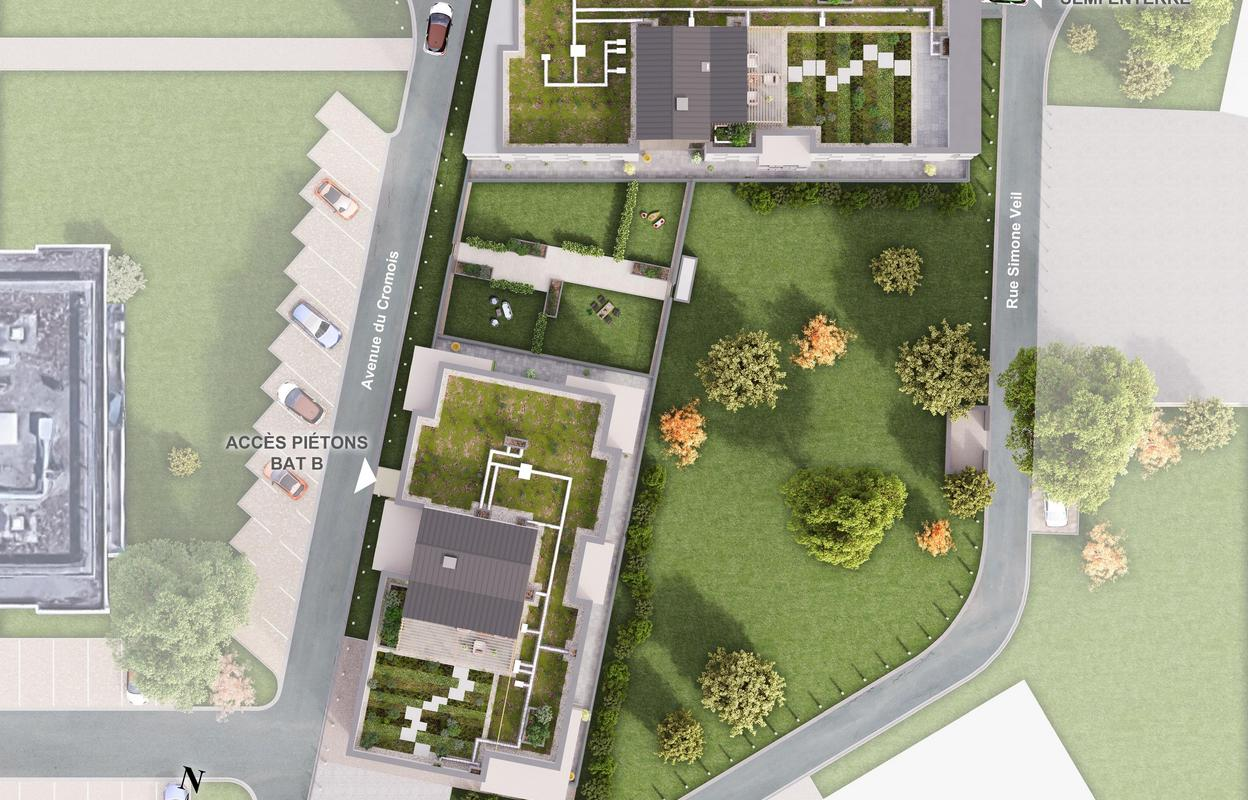 Programme neuf T2, T3 40 à 49 à 59 à 63 m²