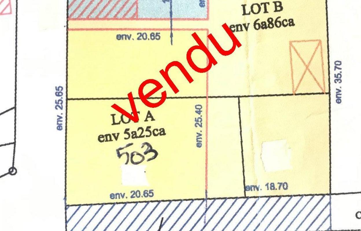 Terrain 503 m²