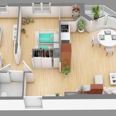 Immeuble 61 m²