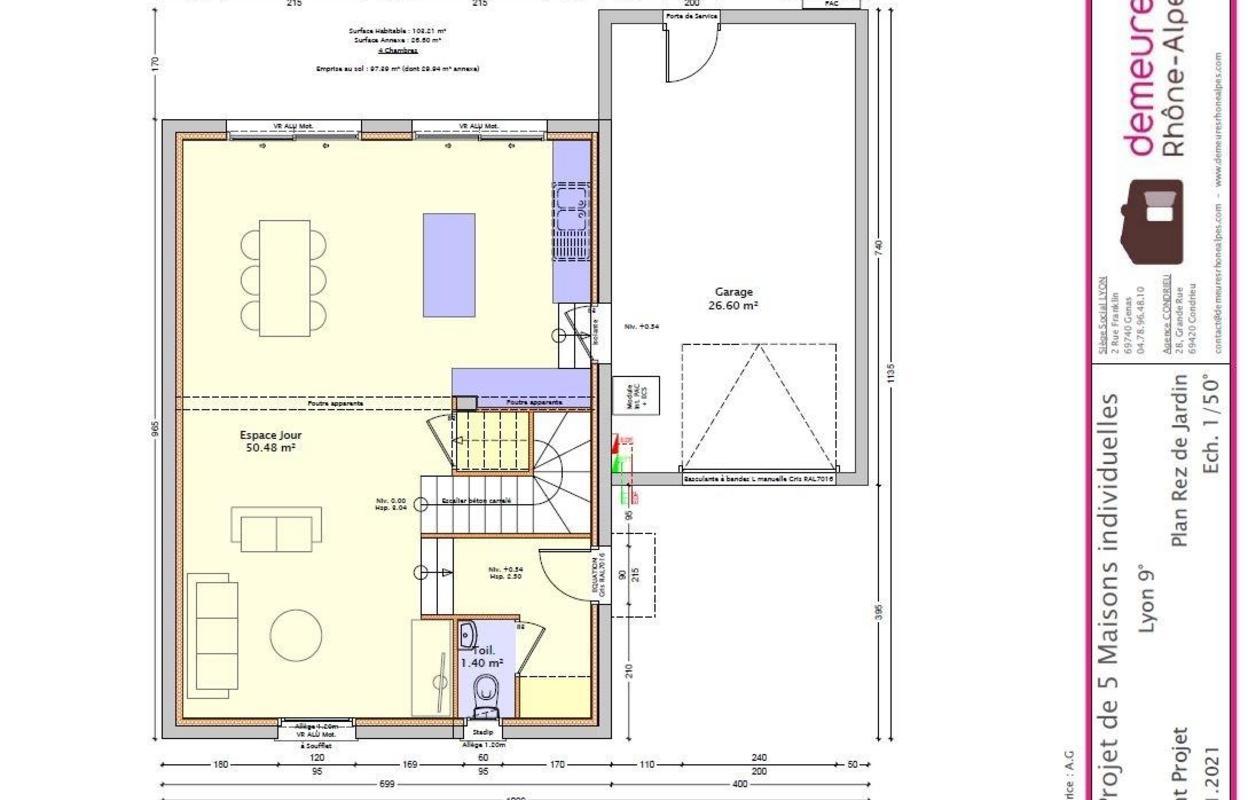 Maison à construire 5 pièces 103 m²