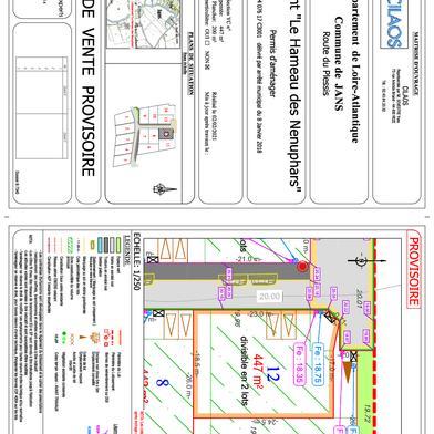 Terrain à construire 447 m²