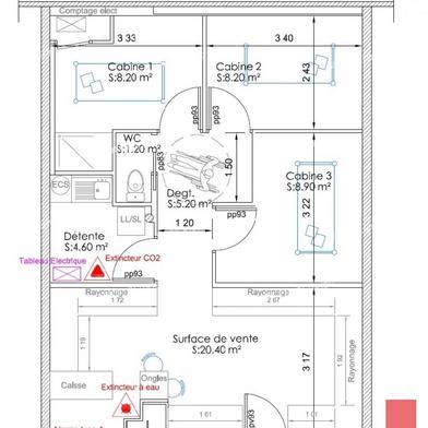 Commerce 60 m²