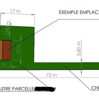 Terrain 818 m²
