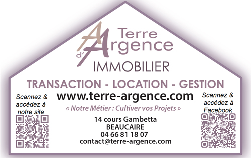 Terre d'argence immobilier Garons agence immobilière Garons (30128)